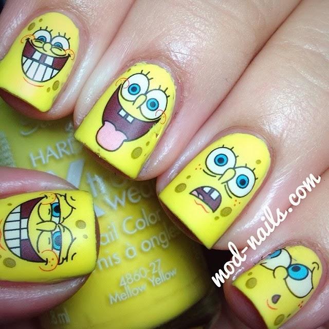 ModNails SPONGEBOB NAILS - Spongebob nail decals