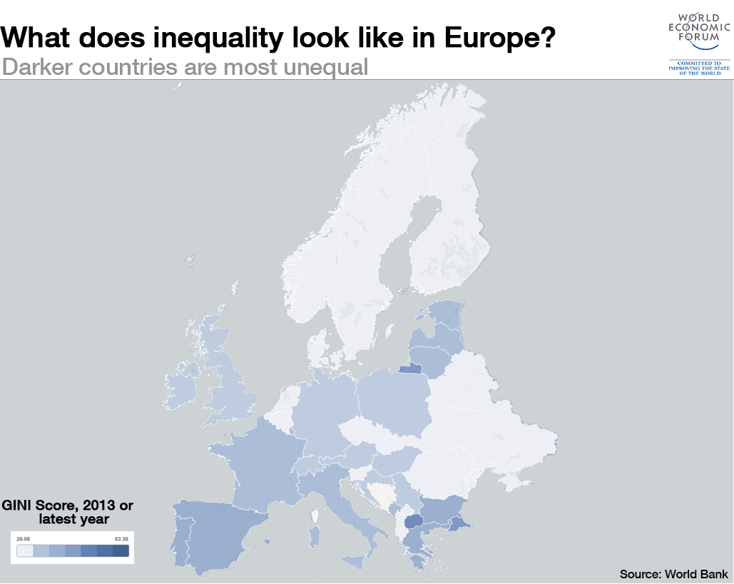 What does inequality look like around the World:Europe?