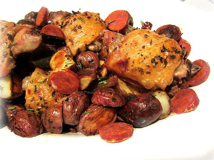 Nigella chicken sausage bake recipe
