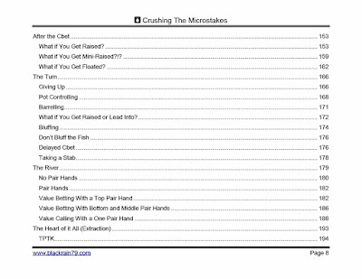 Crushing the Microstakes BlackRain79 table of contents