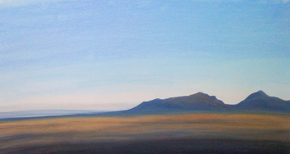 "©Anne M Bray  Desert Sunset, 2010, pastel/paper, 19 x 31"""