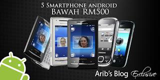 telefon 3G bernilai RM500 ke bawah sahaja  Apa kata anda ? Logikkah