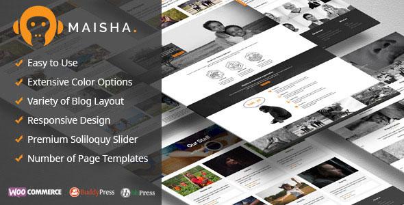Maisha – Charity/Non-Profit WordPress Theme