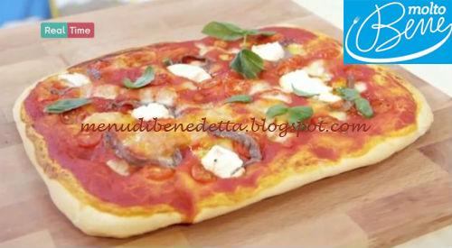Pizza pomodori ricotta e acciughe ricetta Parodi per Molto Bene