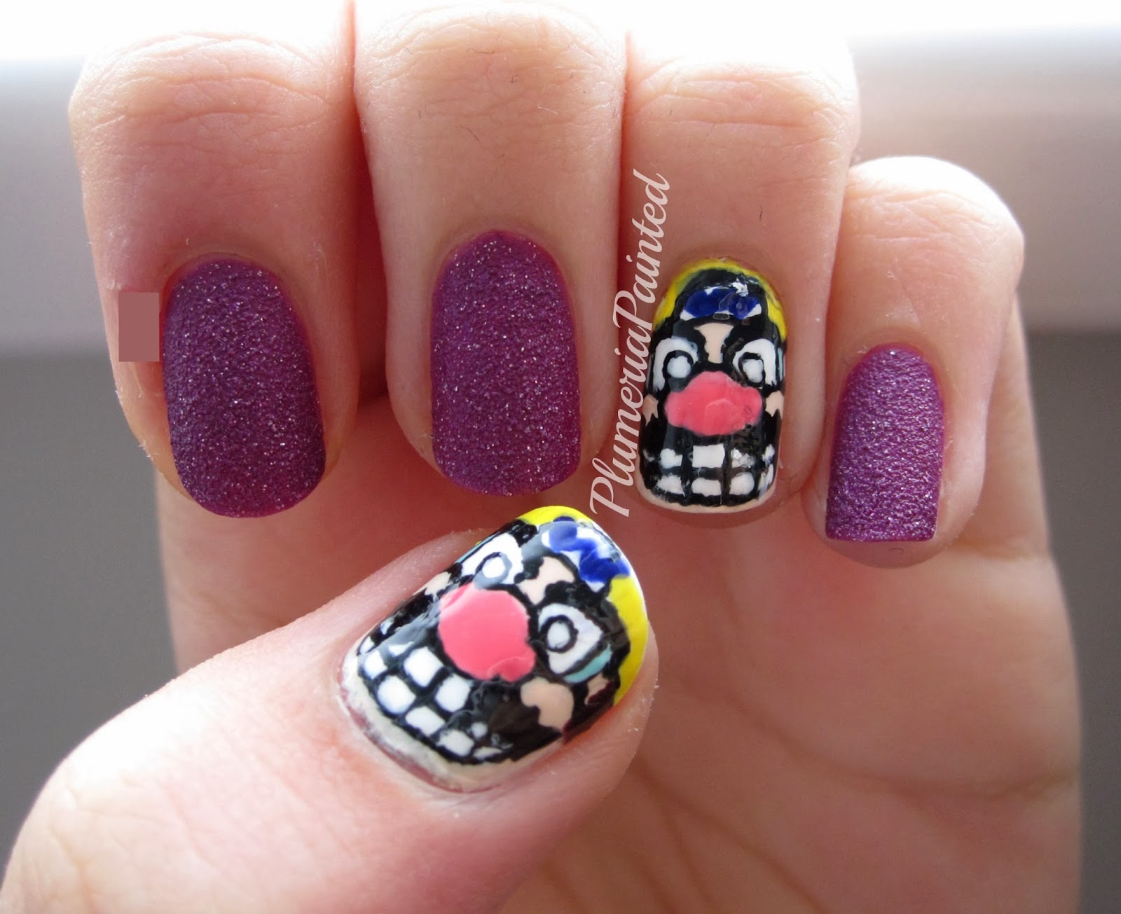 PlumeriaPainted: Wario Nails (for Movember)