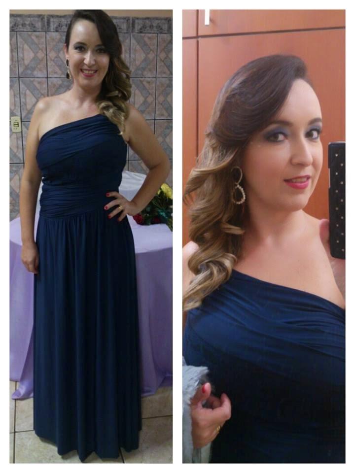 blog camila andrade, blog de moda de ribeirão preto, blogueira de ribeirão preto, vestido longo azul marinho, vestido para madrinha, penteado para casamento, maquiagem para casamento