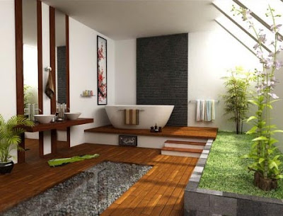 trending green bathroom design 2012
