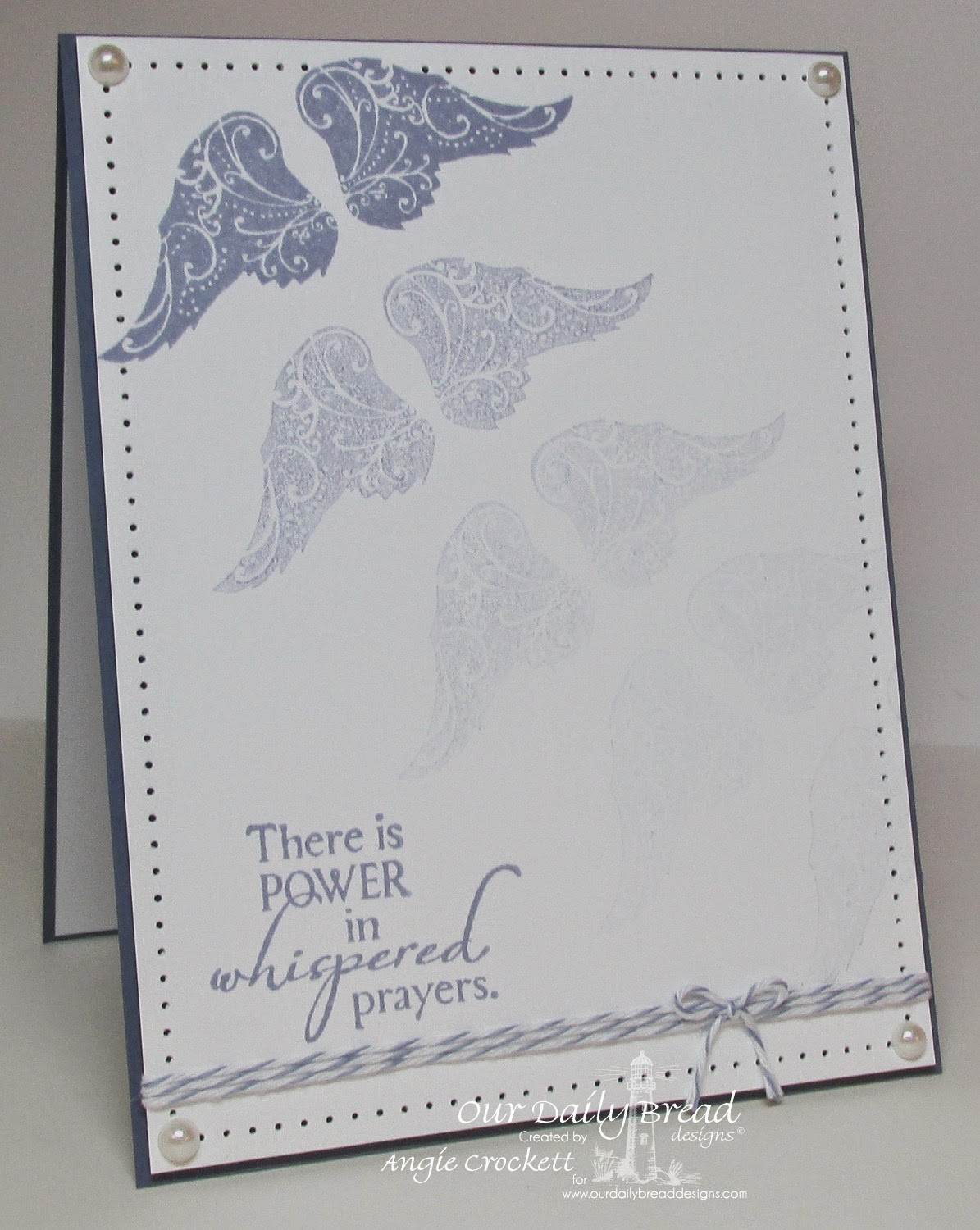 ODBD Holy Angels Card Designer Angie Crockett