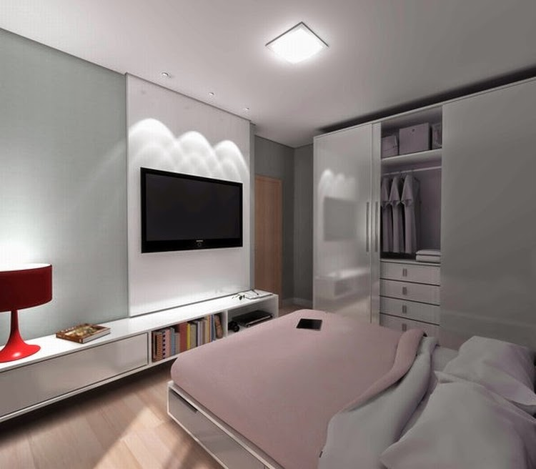 Modern Bedroom Ideas for Small Rooms: Modern Small Space Bedroom .