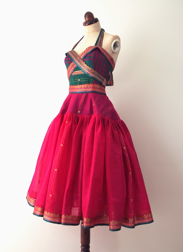 vintage rockabilly halter dress