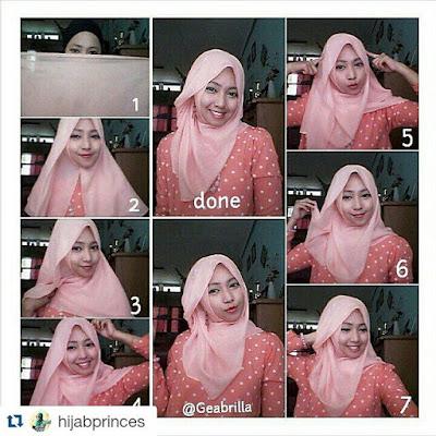 totorial hijab paris sederhana