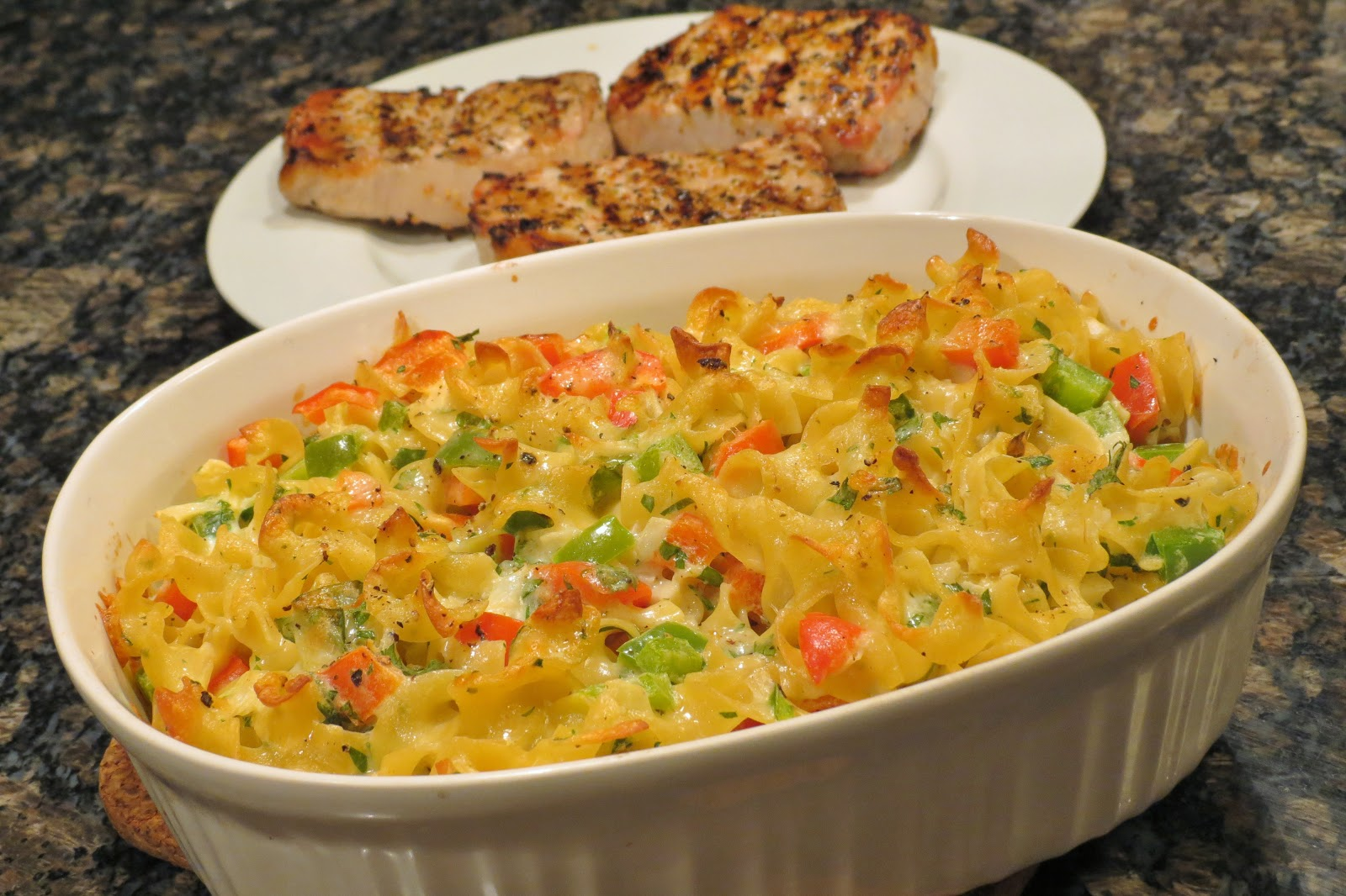 Dinner with the Welches: Egg Noodle and Vegetable Casserole