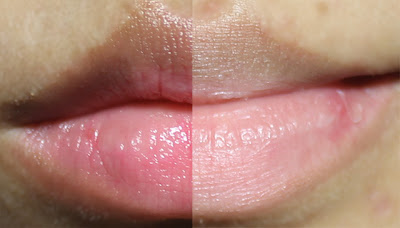 Maybelline Baby Lips Pink Glow in Pink Blast lip swatch on pale lips