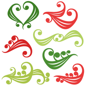 Christmas Flourishes by Miss Kate Cuttables