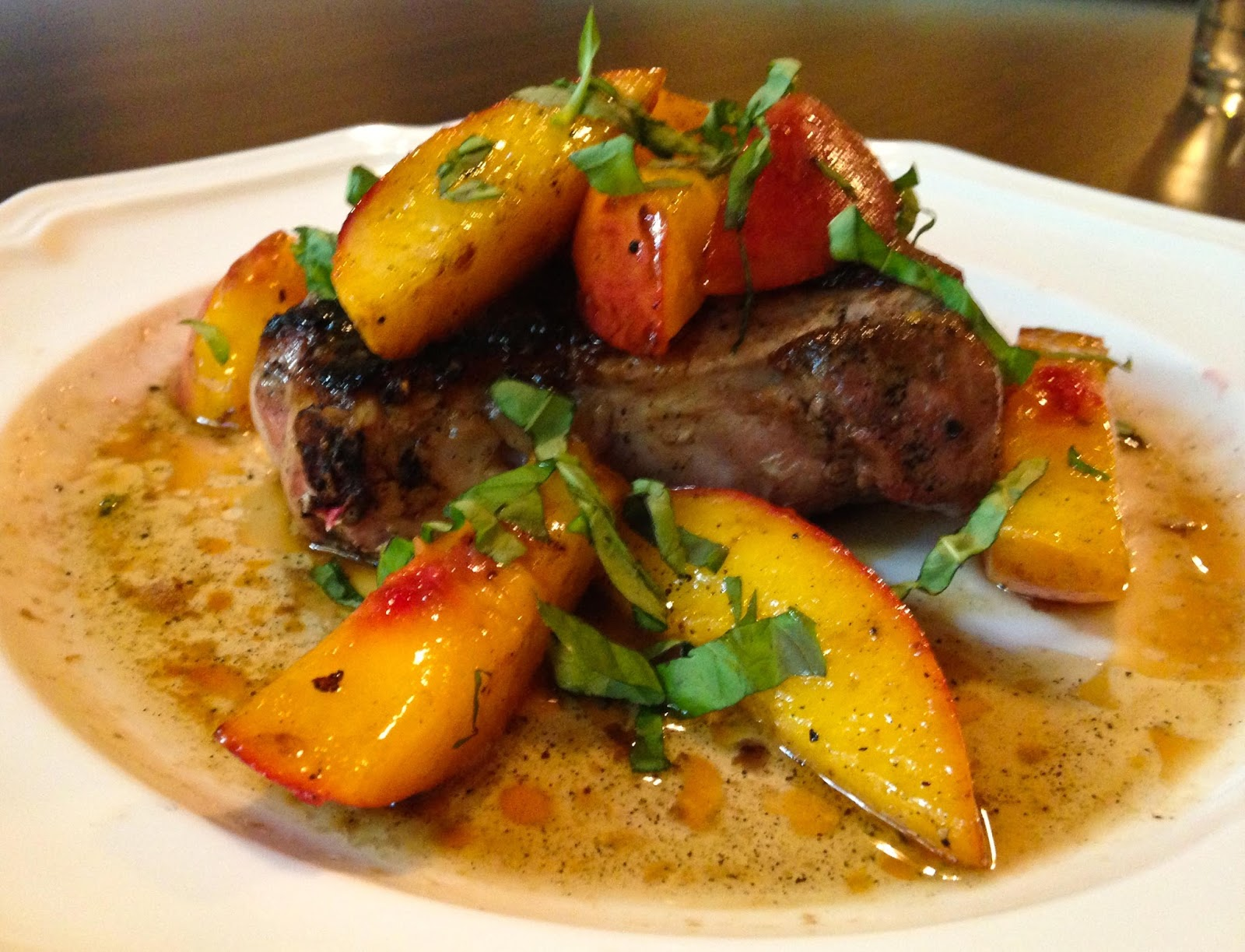 herbed grilled pork tenderloin with peaches recipe