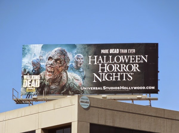 Walking Dead Halloween Horror Nights Universal Studios billboard 2014