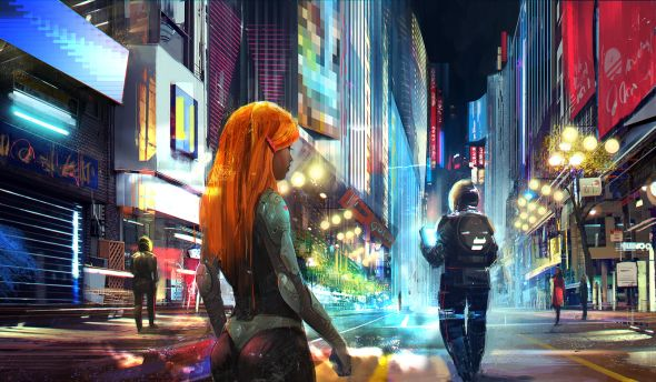 Sina Pakzad Kasra deviantart illustrations science fiction fantasy Nightlife