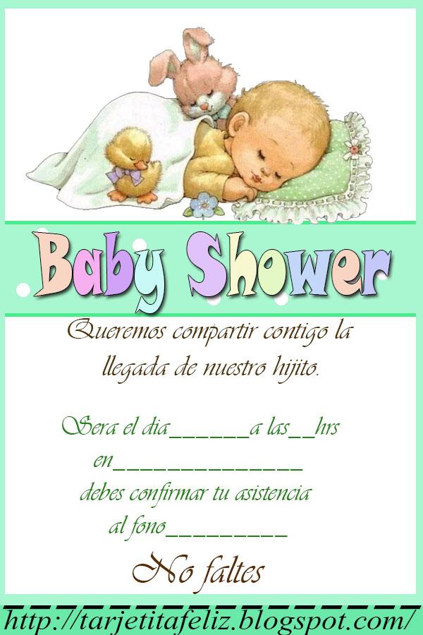 Baby Shower Invitaciones Para Imprimir