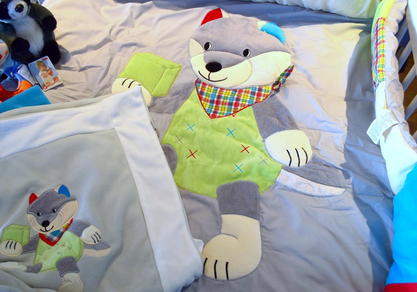 Babygeschenk: Sterntaler Schmusedecke und Laufgittereinlage Wilbur