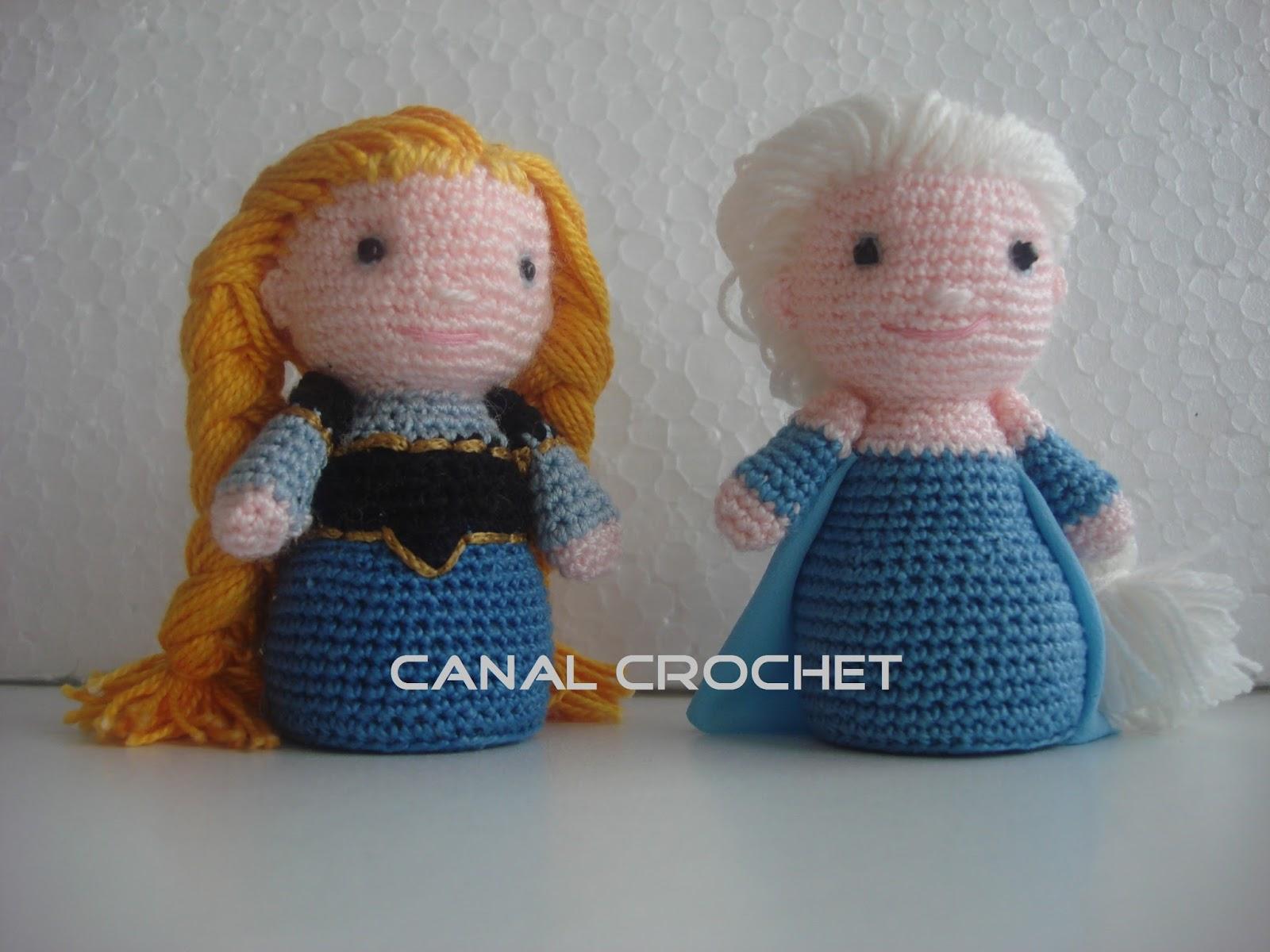 CANAL CROCHET: Elsa frozen amigurumi patrón libre