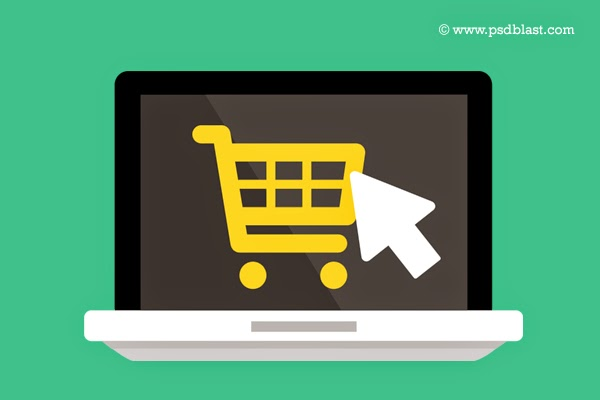 Flat Buy Online Icon PSD