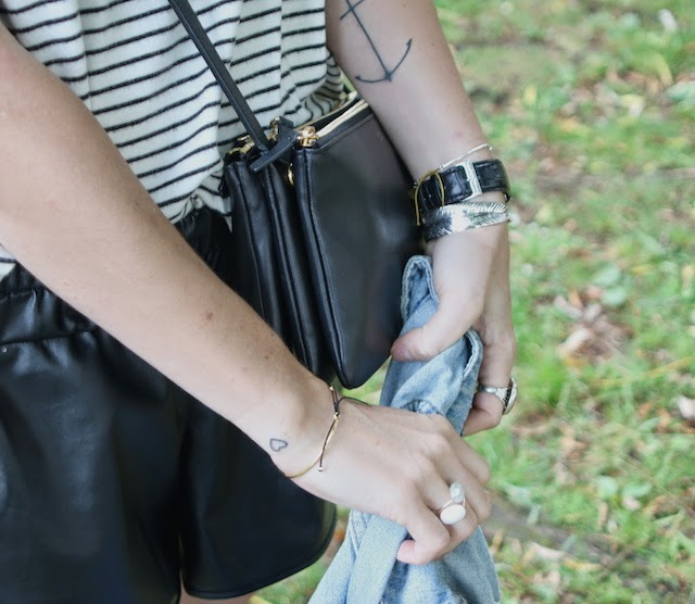 fashion blogger, blog mode lille, juste juliette, inked, tattoo, anchor tattoo heart tattoo, trio bag, celine