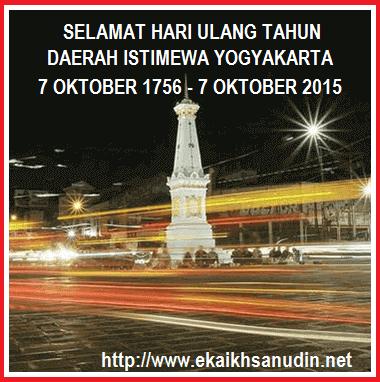 SELAMAT HUT YOGYAKARTA KE - 259 TAHUN 2015