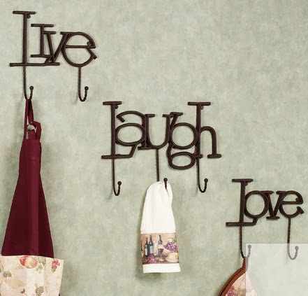 live laugh love wall hook