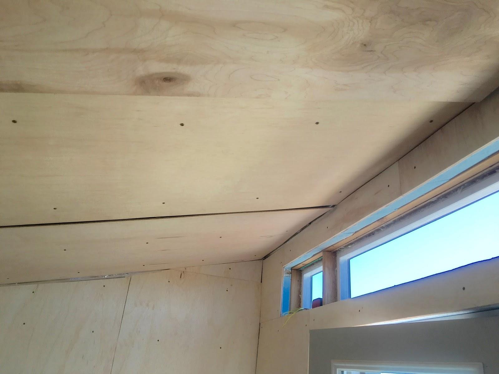 Как сделать потолок из фанеры своими руками 56