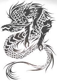 Motif Tato Naga Hitam Putih 26