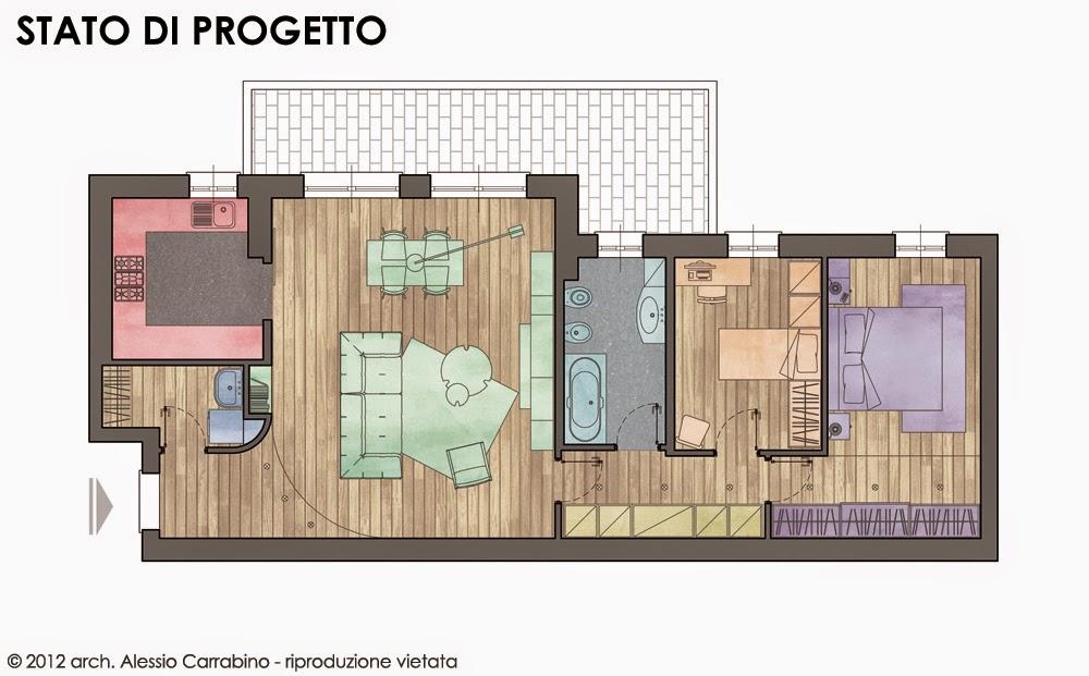 Alessio carrabino architetto revisione della planimetria for Planimetria stanza