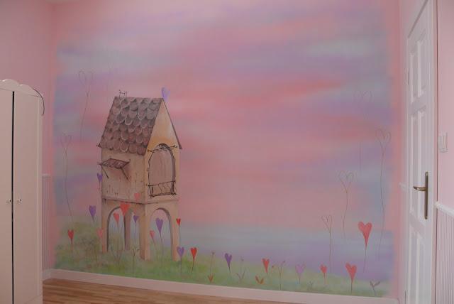 Artistic wall painting, aranżacja pokoju dziewczynki, Lublin