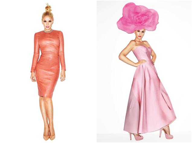 gwen stefani pink dress jill sander pink hat