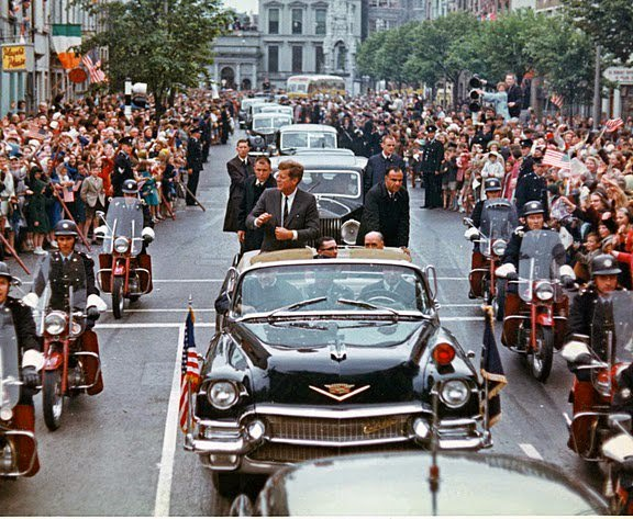 Agents on limo, Ireland, June 1963