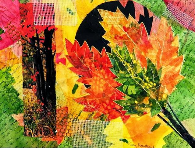 cuadros de flores al leo abstractos
