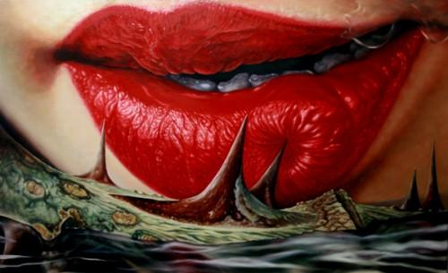 Kim Sung Jin Lips Paintings Seen On www.coolpicturegallery.us