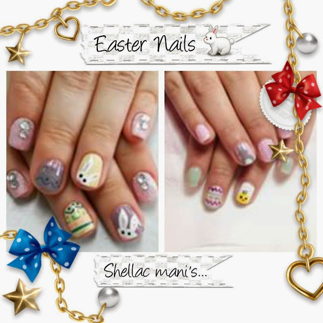 Easter nails Extensions and shellac manicure ombre nails