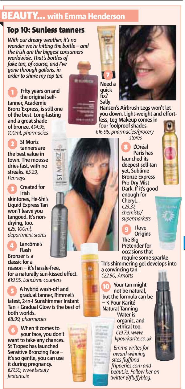 Emma Henderson Metro Herald Beauty Column