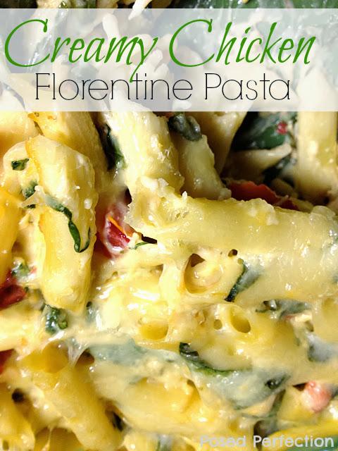 Creamy Chicken Florentine Pasta
