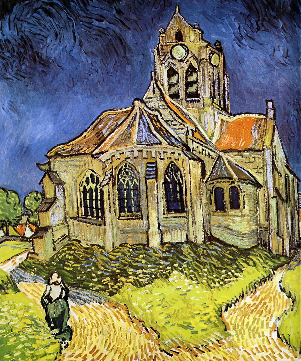 ... may recognize this Van Gogh painting, and yes, it's the same church