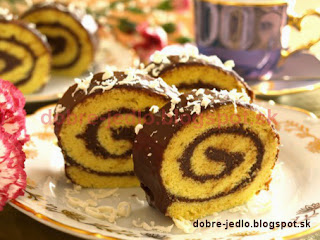 Čokoládová roláda - recepty