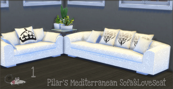 My Sims 4 Blog Pilar S Mediterranean Sofa Love Seat And