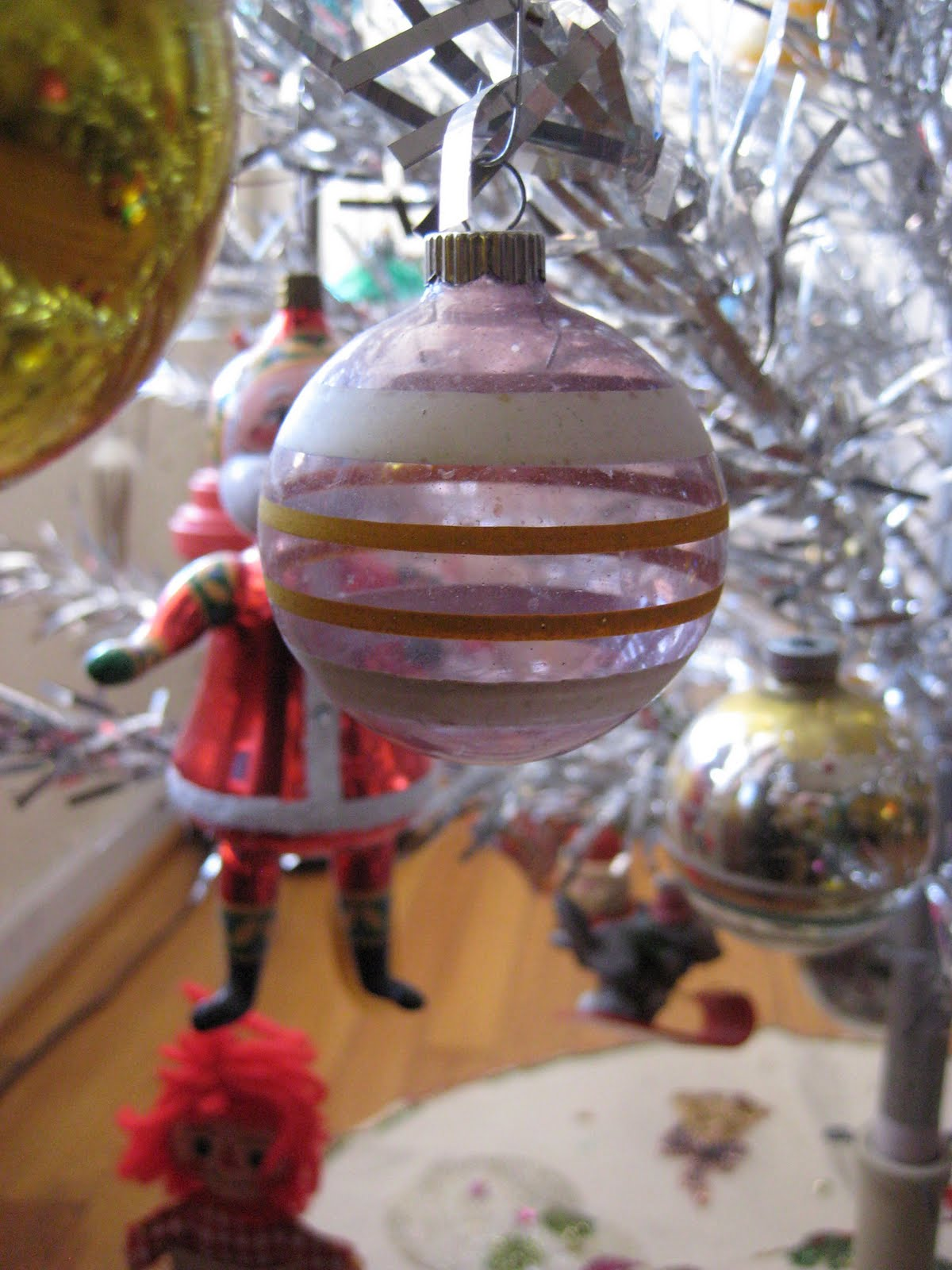 Drama christmas ornaments - This Is One Of My Long Time Favorites Likely A Shiny Brite Dating From The Wwii Era I Recently Learned Of The Company S Practice Of Painted Stripes On