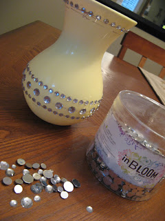 Plastic Vase with Faux Gems