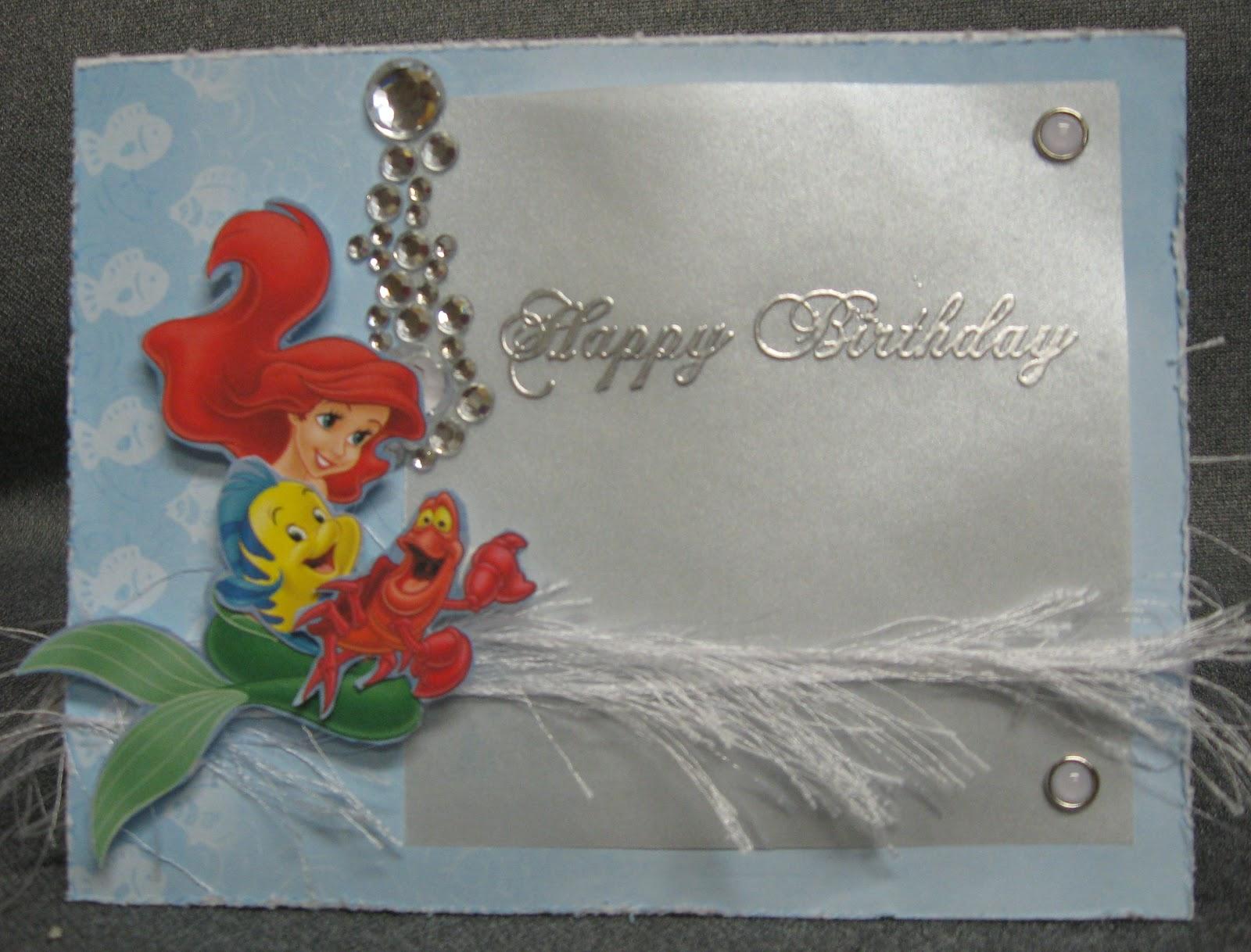 DJs Sundries Ariel Birthday Card – Ariel Birthday Card
