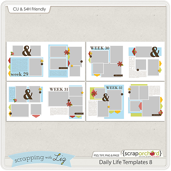 http://scraporchard.com/market/Daily-Life-8-Digital-Scrapbook-Templates.html