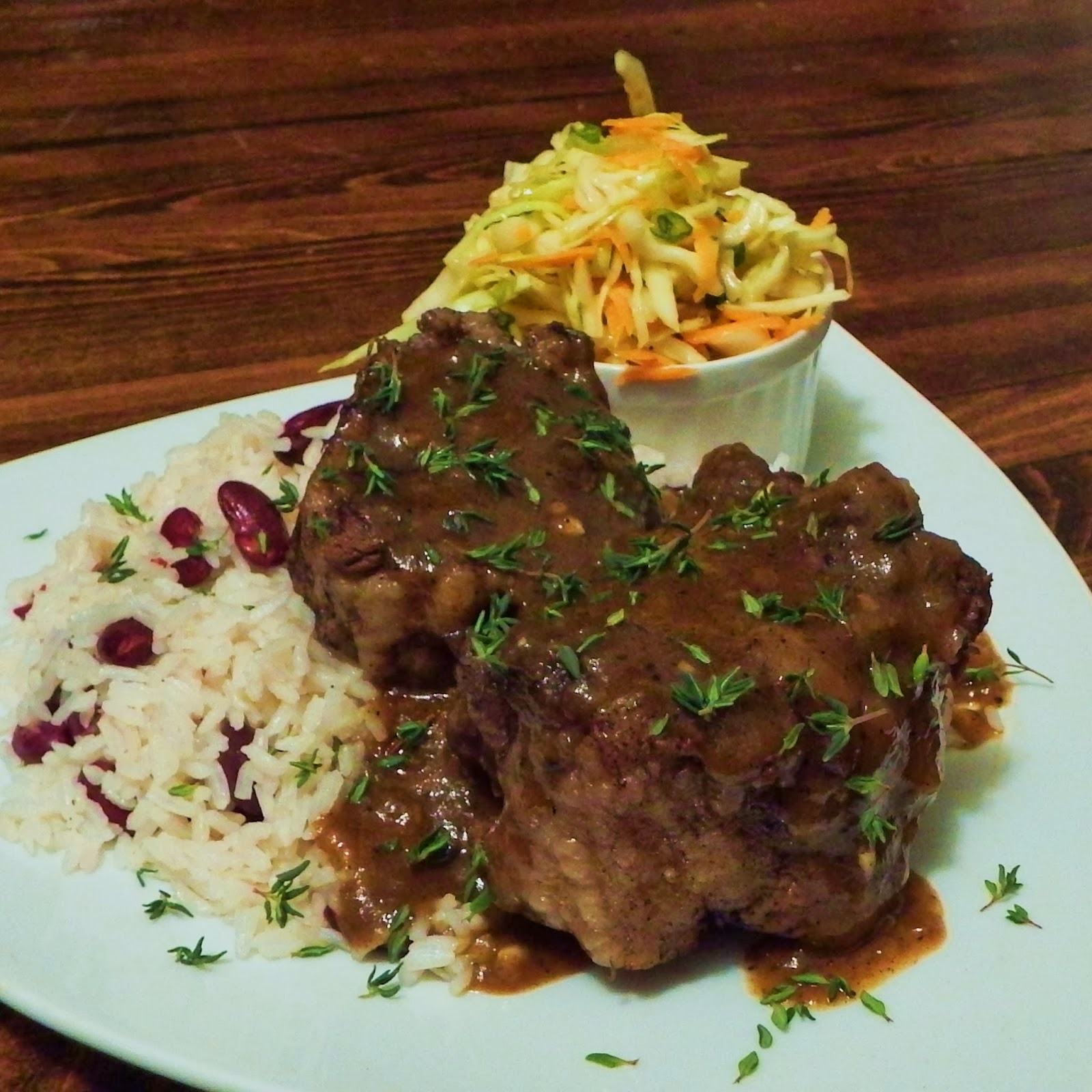 """foodbram caribbean oxtail with """"rice and peas"""""""