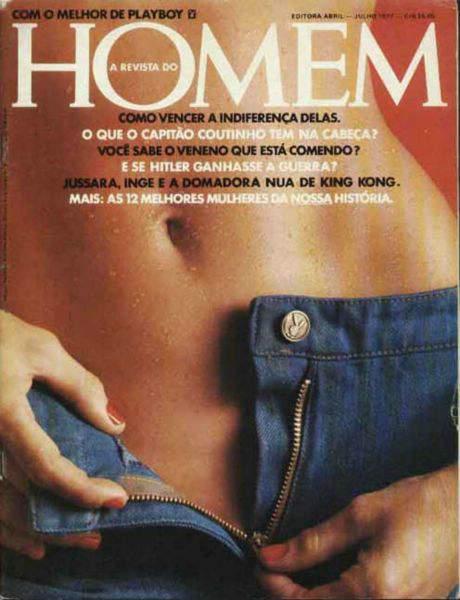 Confira as fotos de Jusara, capa da revista Homem de junho de 1977!