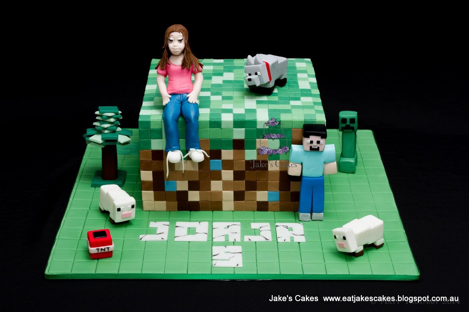 Jakes Cakes Minecraft Cake