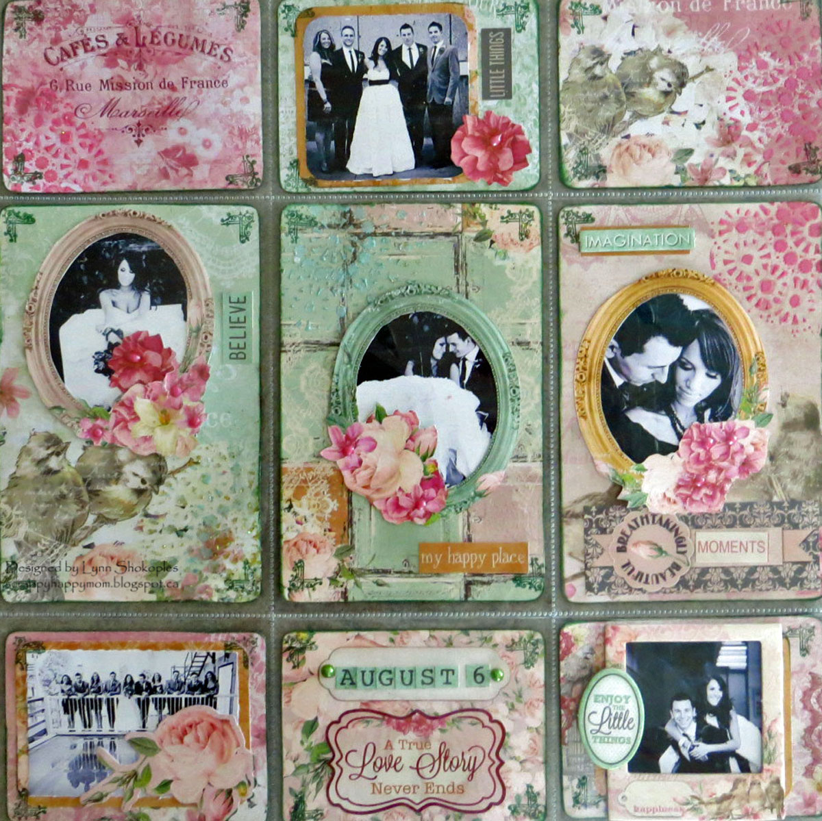 Welcome To My World Misc.Me page by Lynn Shokoples featuring BoBunny Madeleine Collection